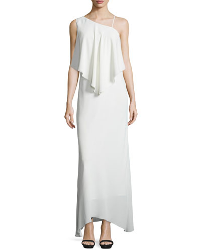 Ellie Chiffon Popover Gown, Ivory