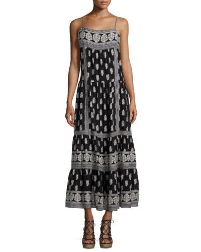 Knightly Printed Cotton/Silk Maxi Dress