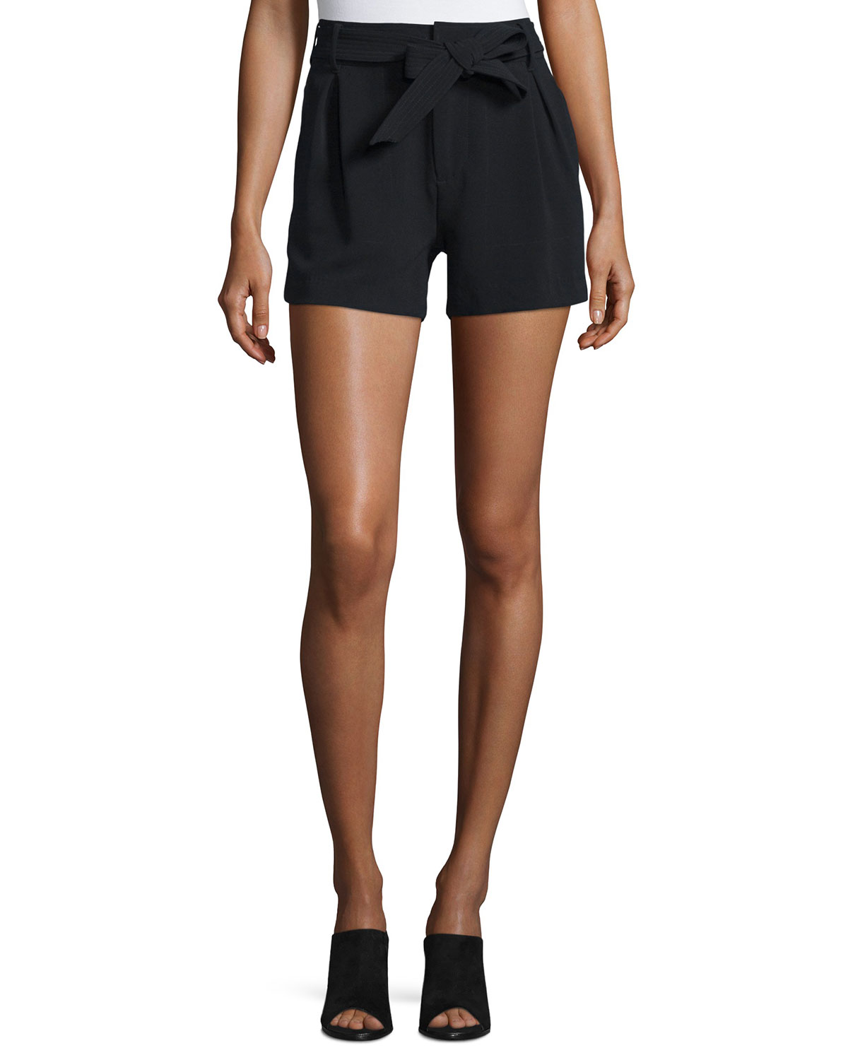 Molley Tie-Front Crepe Shorts