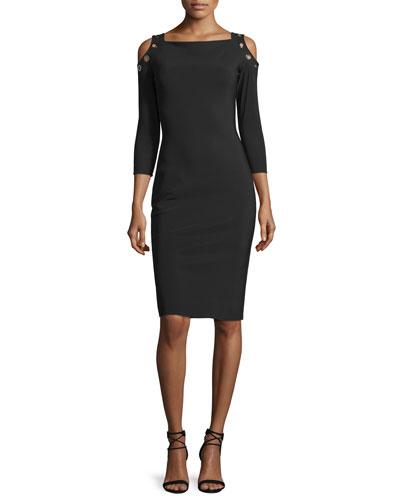 Evie Cold-Shoulder Sheath Cocktail Dress