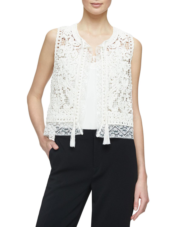 Giselle Crochet Lace Vest