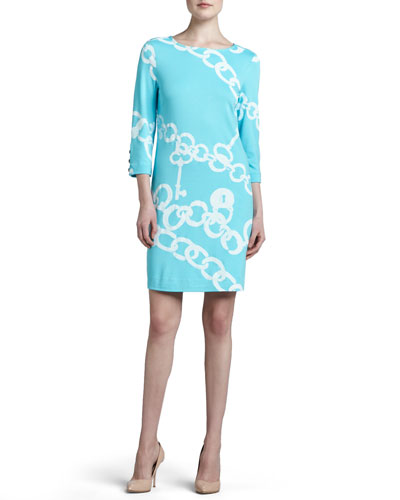 Jonah Posh Printed Ponte Dress