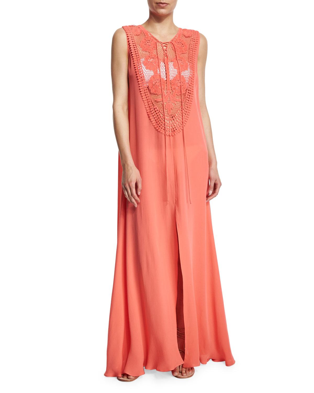 Lana Crocheted Maxi Coverup Dress