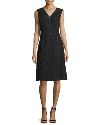 Essie Sleeveless V-Neck Dress, Black