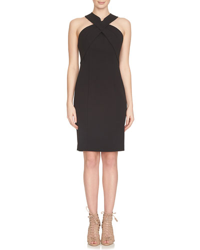 Sleeveless Crisscross Sheath Dress