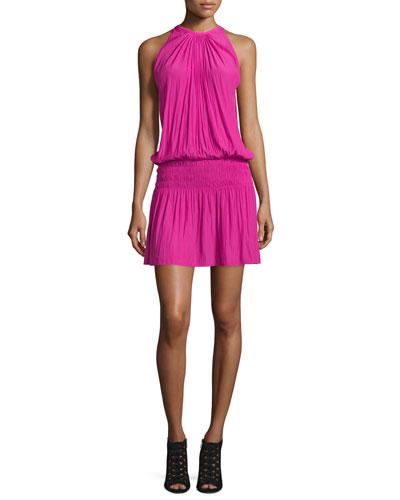 Paris Sleeveless Blouson Dress, Paradise Pink