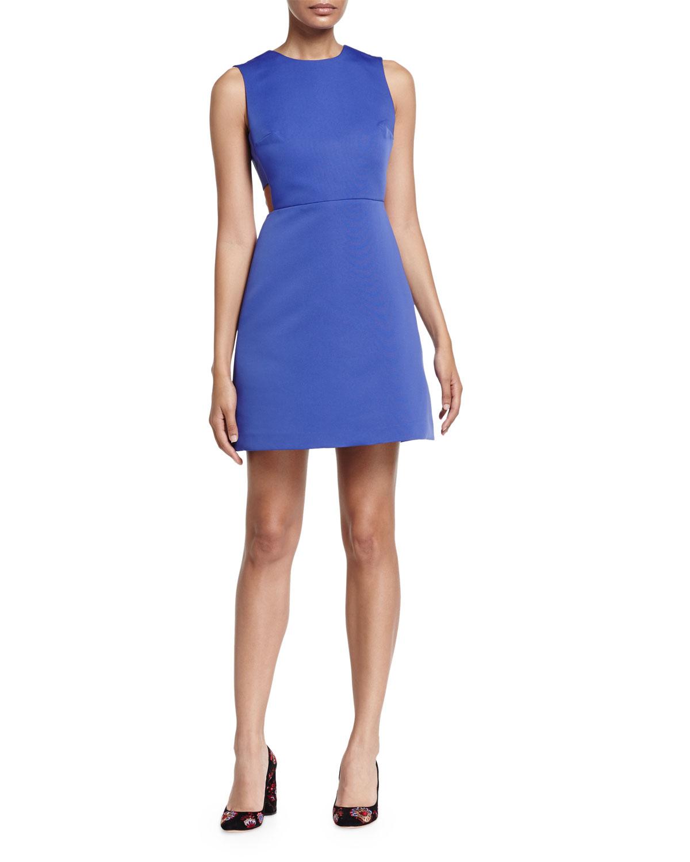 sleeveless cutout mini dress