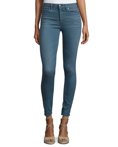 Wonder Cropped Skinny Jeans, Blue-Gray