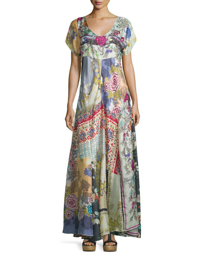 Dolce Vivo Patch Maxi Dress, Multi Colors