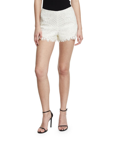 Gigi Lace Shorts, Ivory