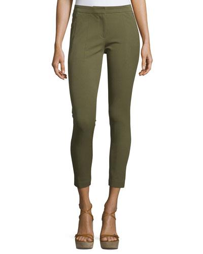 Skinny-Leg Contour Pants, Juniper