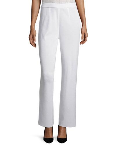 Mid-Rise Wide-Leg Pants, New Ivory, Plus Size