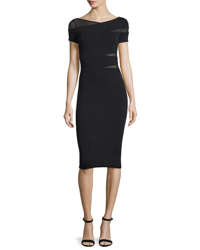 Delap Wrap-Front Sheath Dress