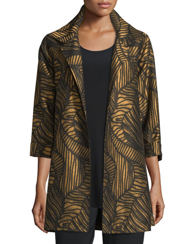 Waves Jacquard Party Jacket, Plus Size