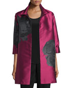 Rio Rose Open-Front Party Jacket, Deep Pink/Black