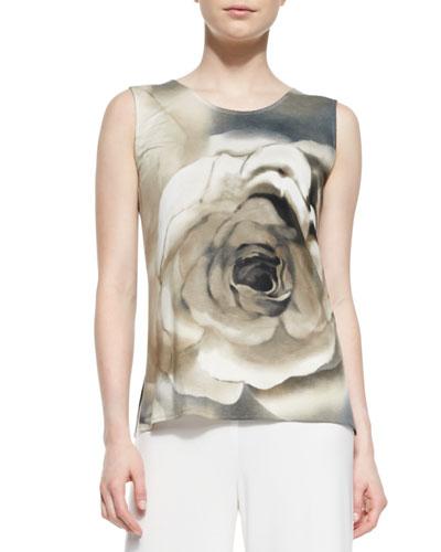 Watercolor Rose Tank