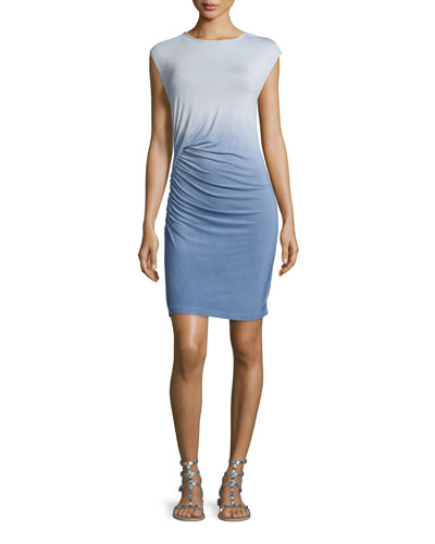 Khloe Ombre Jersey Dress, Chambray Blue