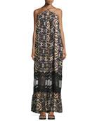Cecilia Sleeveless Maxi Dress, Savanna Print