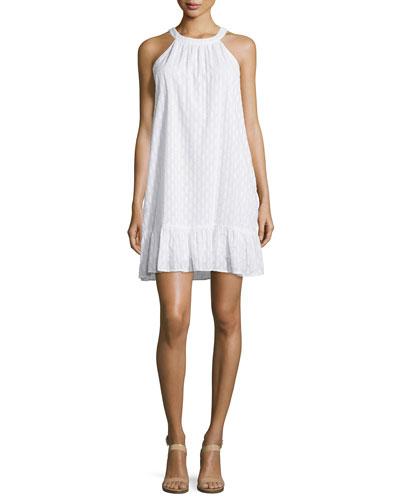 Dover Clip-Dot Sleeveless Shift Dress
