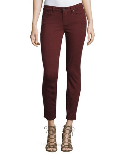 Verdugo Skinny Ankle Jeans, Deep Syrah