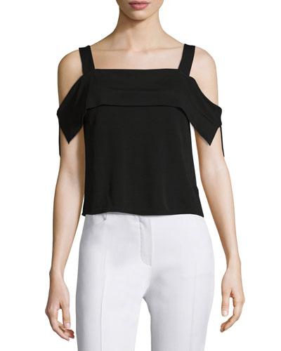 Thabo Cold-Shoulder Top, Black