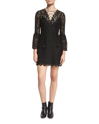 Megali Lace-Up Mini Dress