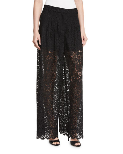 Kimmi Lace Wide-Leg Trousers
