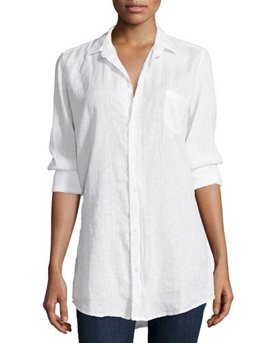Shirley Long-Sleeve Blouse, White