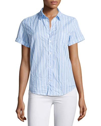 Billy Jean Striped Shirt, Blue/White Stripe