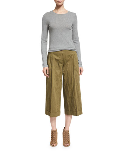 Pleated Wide Leg Pants | Neiman Marcus