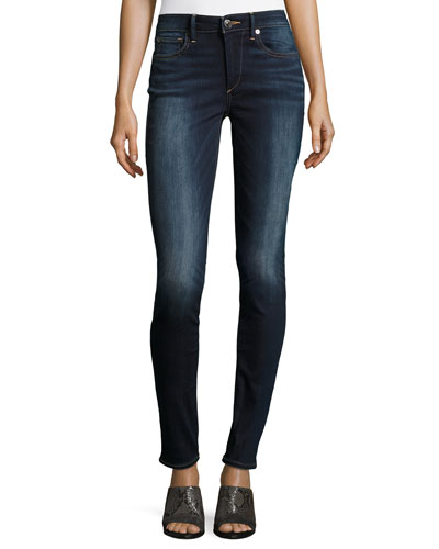 Jennie Curvy Mid-Rise Skinny Jeans, Native Ora Clean