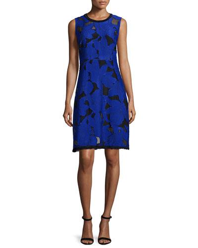 Ophelia Floral Fil Coupe Dress