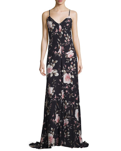 Alves Floral-Print Maxi Dress