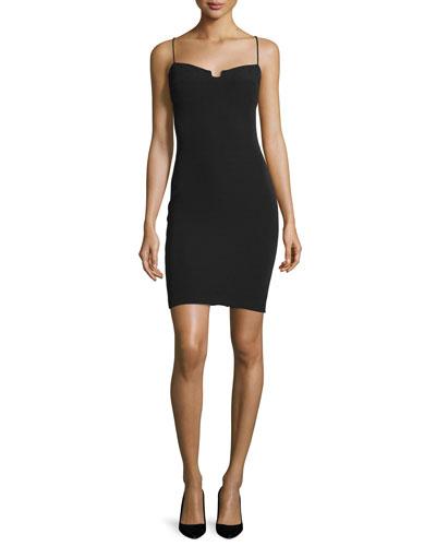 Enigma Bustier Bodycon Dress, Black