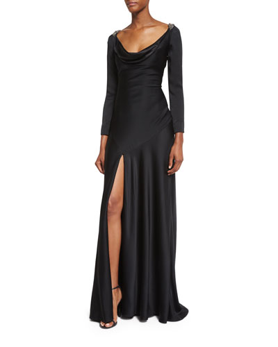 Casino Royal Redux Lace-Back Gown, Black
