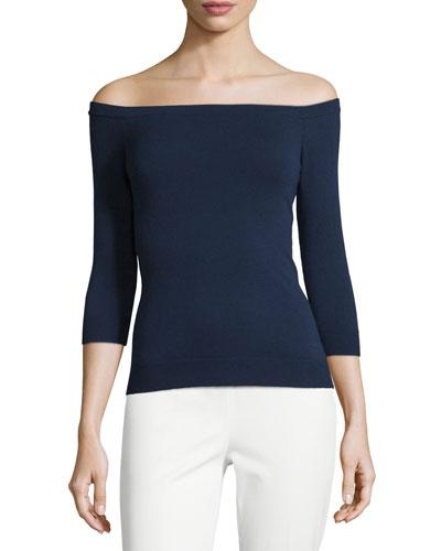 Off-the-Neckline Pullover