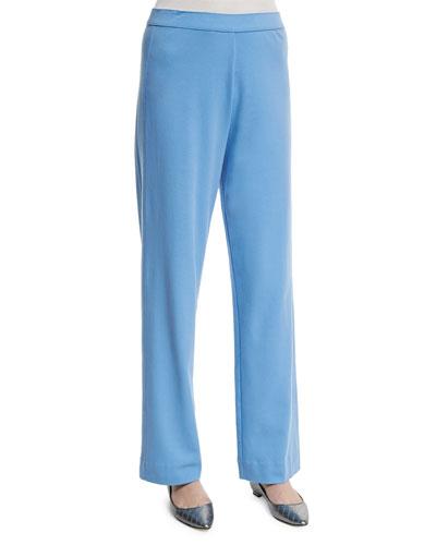Stretch-Cotton Interlock Pants, Plus Size