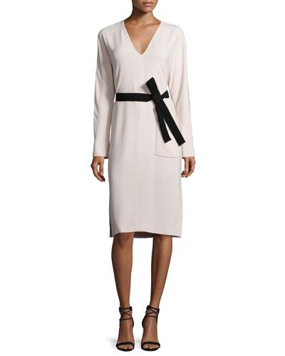 Jamie Belted Midi Dress, Cameo