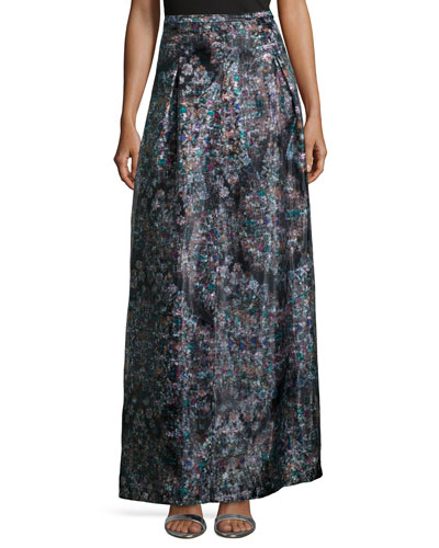 Resplendent Crystal-Print Ball Skirt