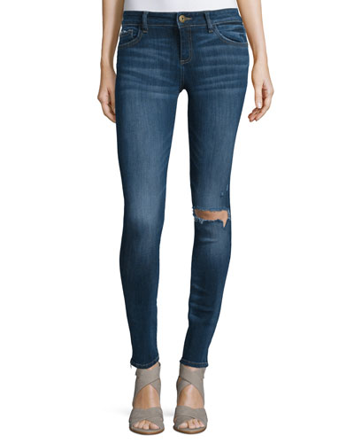 Florence Distressed Skinny Ankle Jeans, Seymour