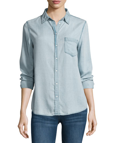 Mercer & Spring Chambray Shirt, Bleach