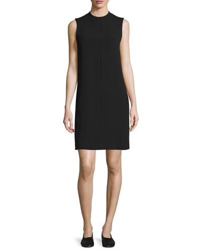 Sleeveless Shift Dress, Black