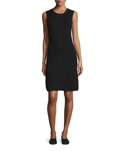 Sleeveless Ribbed Shift Dress