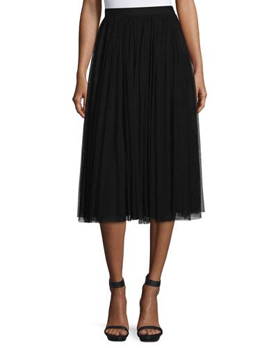 Ballerina High-Waist Tulle Skirt, Black