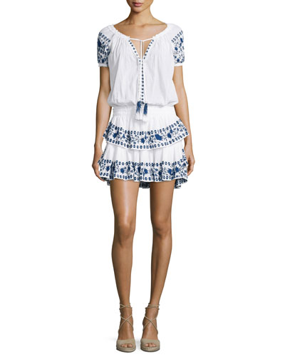 Poppy Embroidered Popover Dress
