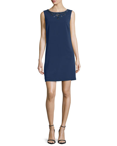 Sleeveless Embellished Cocktail Dress, Inkblot