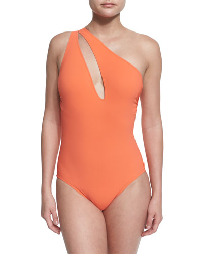 Hanna One-Shoulder Swimsuit with Cutout