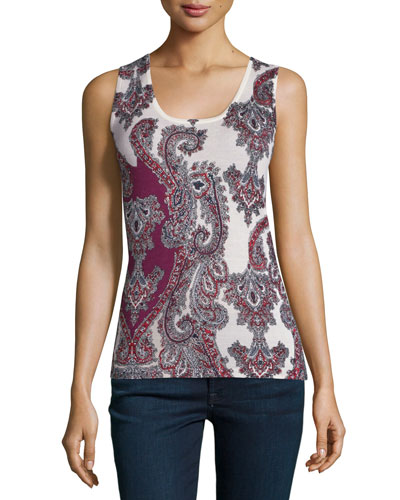 Superfine Imperial Paisley Cashmere Tank