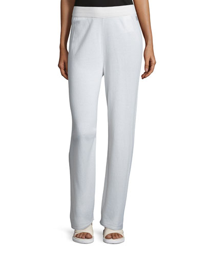 Straight-Leg Pants, Off White