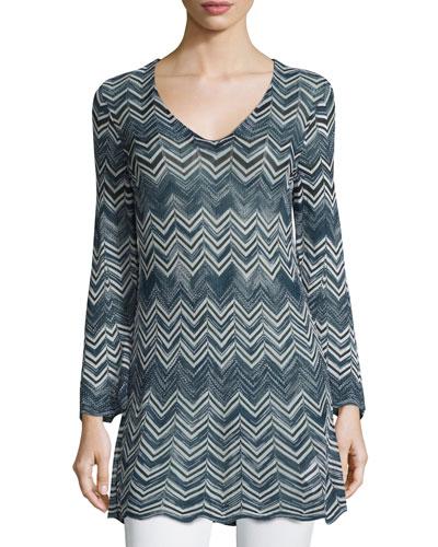 Bluenna Chevron-Knit Sweater